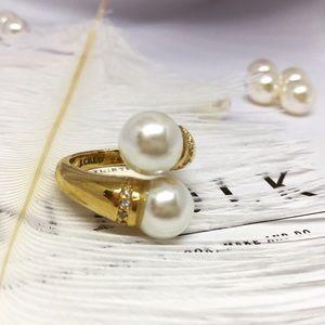 J Crew Flawless Graceful Pearl Cuff Ring